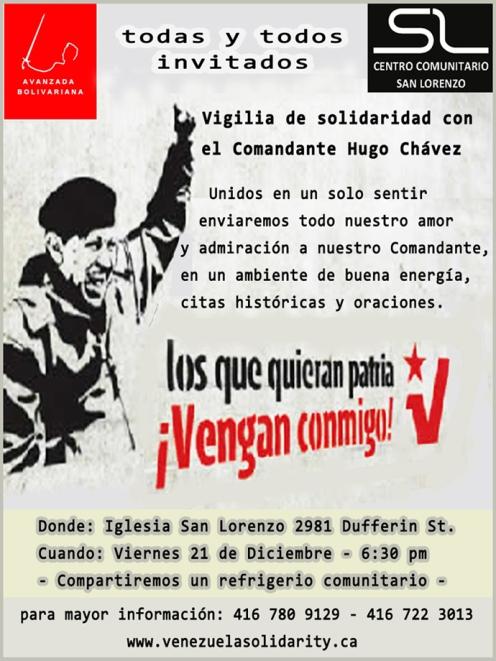 solidaridad con Chavez