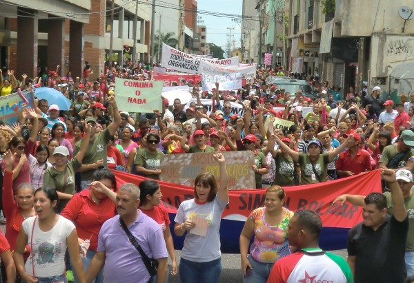 Rally by Socialist Commune Ataroa, state of Lara, Venezuela