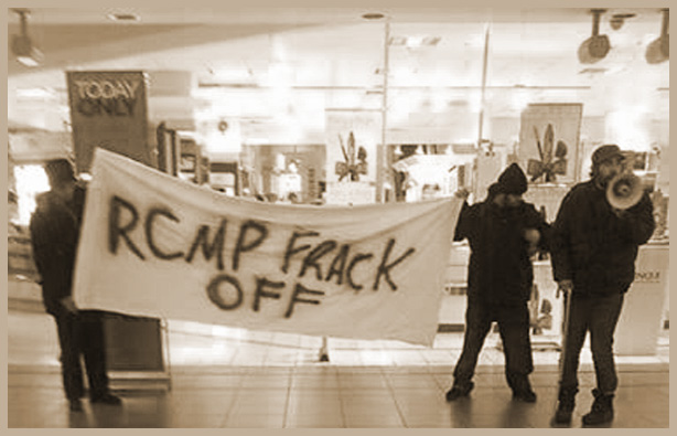 Solidarity action with Elsipogtog on Dec 2nd, in Kitchener, ON