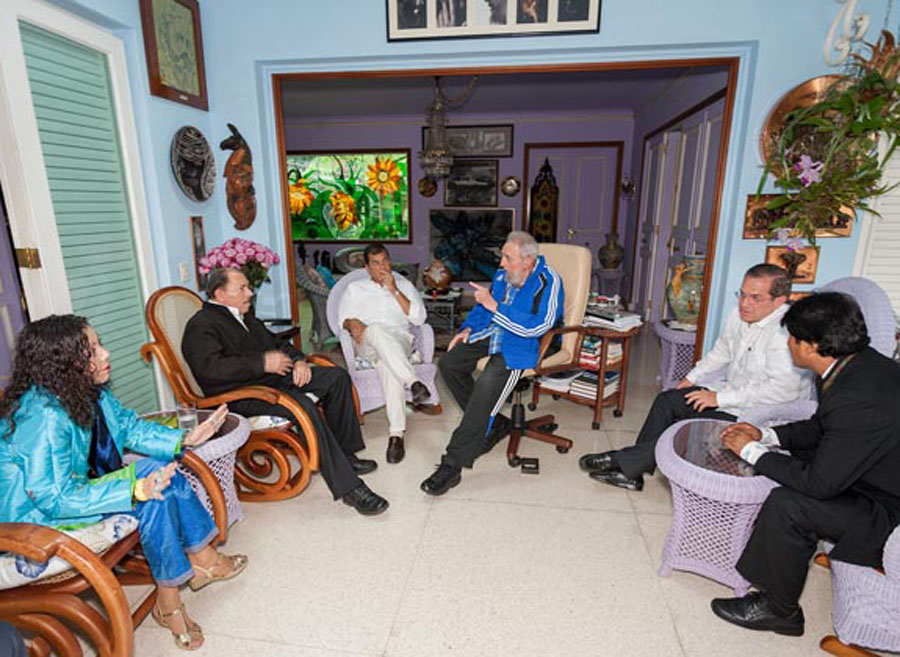 CELAC Presidents and Fidel Castro