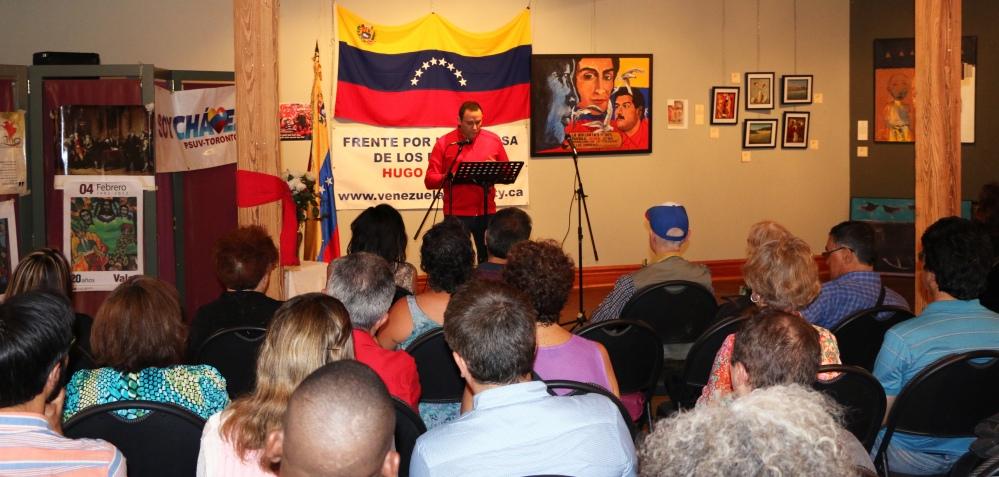 Santiago Escobar, coordinator of the Hugo Chavez Peoples' Defense Front - #Toronto.