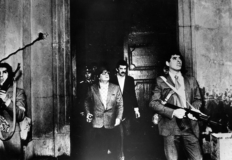 September 11th, 1973. Allende stayed at La Moneda under attack at that moment.