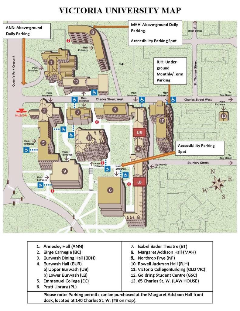 Victoria University Campus Map 2014